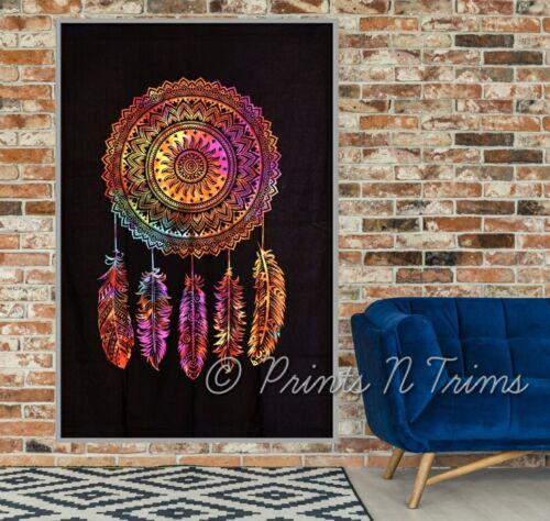Tie Dye Dream Catcher Tapestry Twin Hippie  Mandala Wall Hanging Dorm Decor