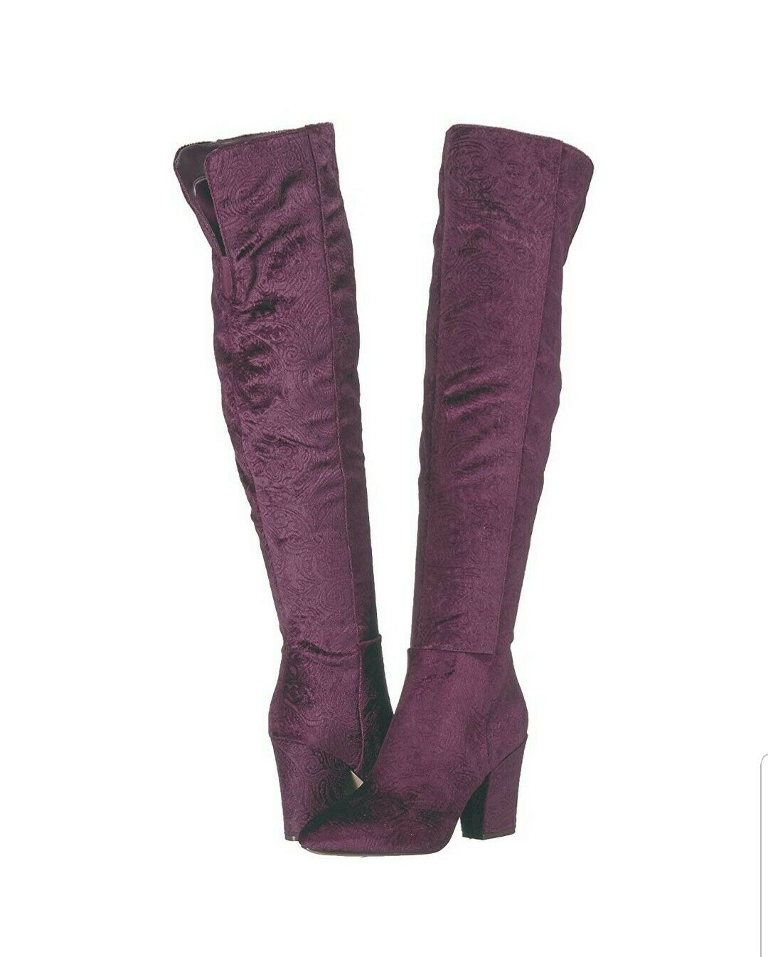Nine West Siventa Burgundy Over The Knee Boots 7 1 2 7.5