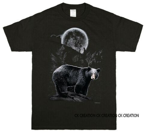 Native American Bear Wildness Graphic Tank Top 3//4 Sleeve Raglan T shirt