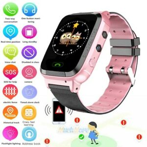 Waterproof Anti Lost Safe Gps Tracker Sos Call Kids Smart Watch For Android Ios Ebay