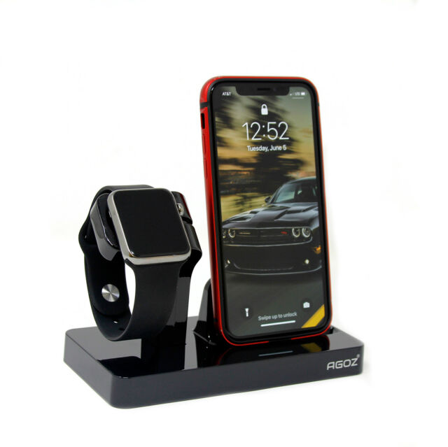 quality design d8d90 721cd Charging Dock Stand Station Charger Holder For Apple Watch iPhone X 8 7 6S  Plus