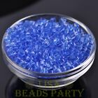 100pcs 4mm Cube Square Faceted Crystal Glass Loose Spacer Beads Light Blue