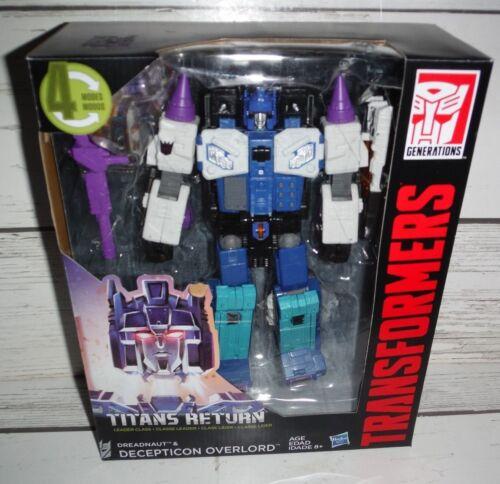New Transformers Titans Return Dreadnaut /& Decepticon Overload