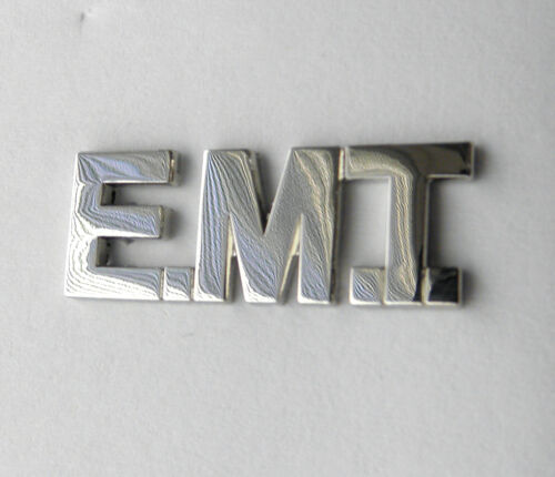 FIRE FIGHTER FIRST RESPONDER EMT SCRIPT PARAMEDIC SILVER COLOR LAPEL PIN 1 INCH