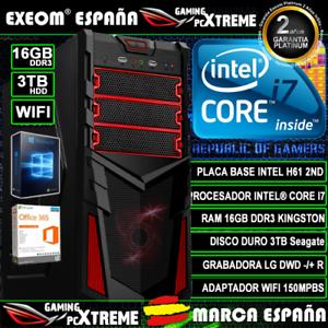 Ordenador-Gaming-Pc-Intel-Core-i7-16GB-DDR3-3TB-HDD-Wifi-Sobremesa-Marca-Espana