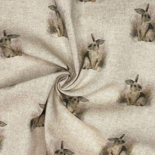 Tela De Algodón Rico Ropa Elegante Panel De Cortina De Tapicería Cojín Bunny Rabbit