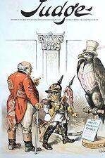 Gillam 1889 AMERICAN EAGLE John Bull Samoa FRIENDLY WARNING Uncle Sam Cover Art