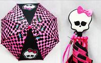 Monster High Goth Gothic Girls Umbrella Molded Handle Rain Snow Sun Gear
