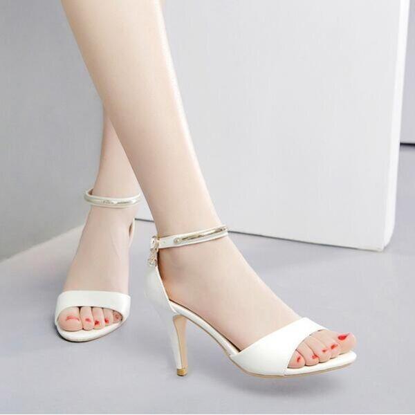 FrauenSandale 8 cm elegant simil Stilett Schmuckstück rosa simil elegant Leder CW659 180db3