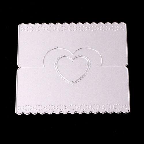 Pop-up Love heart Frame Shape Metal Dies For Gift Card Making Handcraft Cutting
