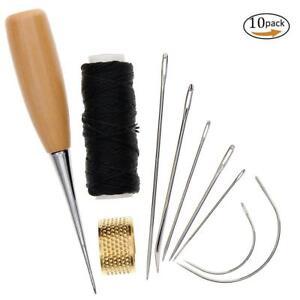 7Pcs-agujas-de-coser-con-Cordon-de-Cuero-Hilo-Encerado-De-Perforacion-Punzon-Y-Dedal-ER15