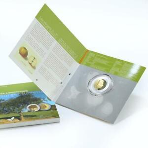 Luxembourg 5 Euro Faune Et Flore Apple Tree Argent Et Or Pièce de Monnaie 2014