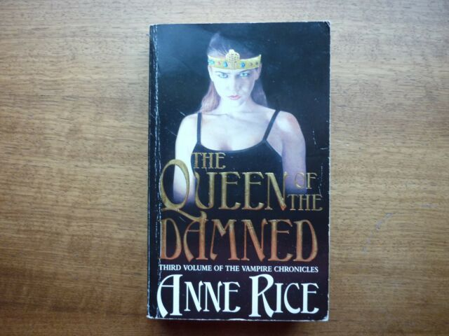 Anne Rice The Queen of the Damned Horror paperback vampires chronicles 3