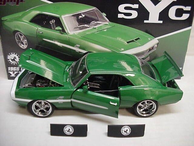 Camaro Chevrolet verde 1968 Yenko 427 diecast metal Street Fighter 1:18 gmp nice