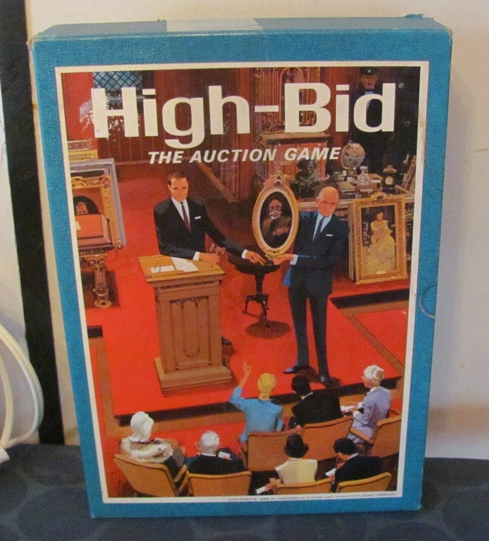 High Bid 3 M 3M Game Complete 1970s TOP CONDITION