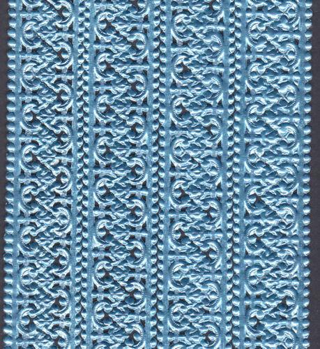 BAROQUE BLUE EDGING ORNAMENTS COLLAGE STRIP PAPER BORDER SCRAP DRESDEN GERMANY