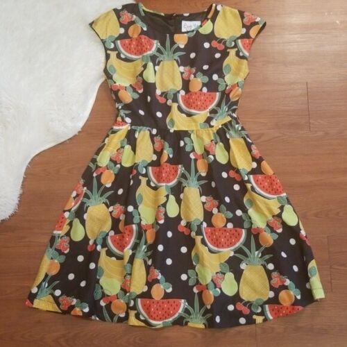 Bea and Dot Modcloth Fruit Rockabilly Pinup Dress