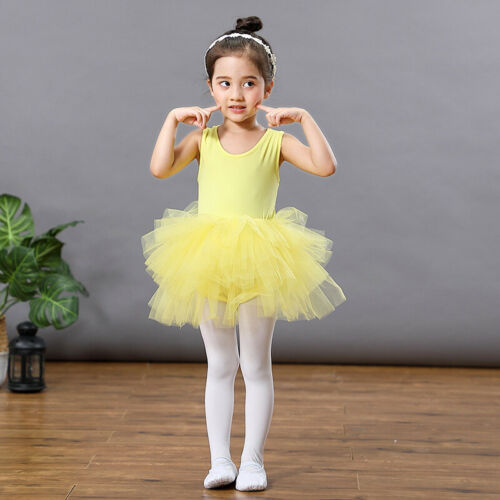 UK Girl Kids Ballet Tutu Dress Gymnastics Leotard Ballerina Dancewear Costume