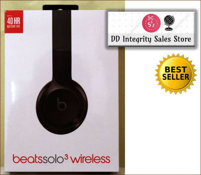 NEW SEALED Beats Solo3 Wireless GLOSS BLACK Headphones 100% AUTHENTIC MNEN2LL/A