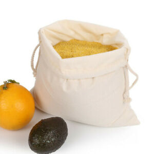 Drawstring-Bundle-Cotton-Bag-Supermarket-Bread-Fruit-Vegetable-Shopping-Bag