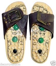 Wooden Relaxing Acupressure Slippers Foot Massager For Accupressure Unisex