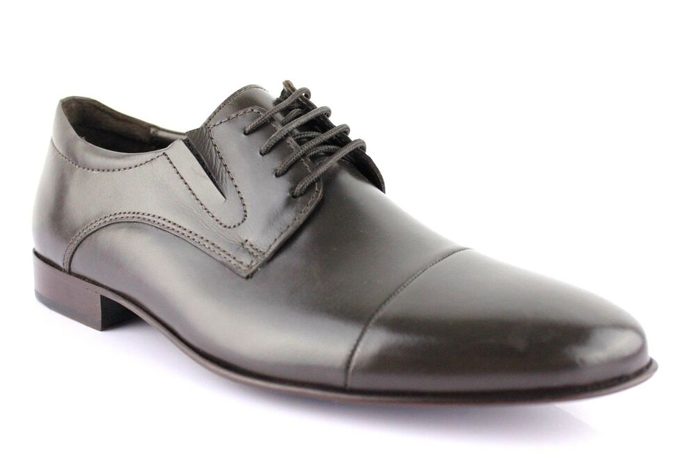 Manz Chaussures Cuir Business Chaussures Semelle En Cuir Exclusif Ago Braun