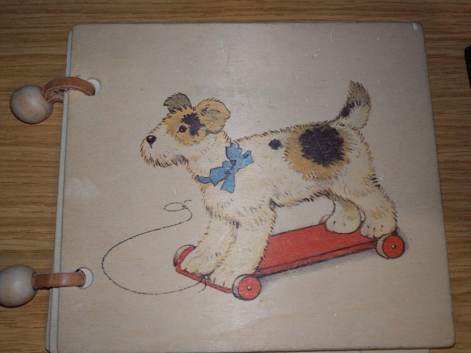 Siebert Spiel AG Holz Bilderbuch Spielzeug Hund auf Rollen Rarität Selten rar