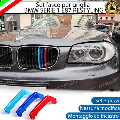 PER BMW M Sport Grill Griglia copertura 3 STRISCIA E81 E82 E87 E88 04-11 TONDO
