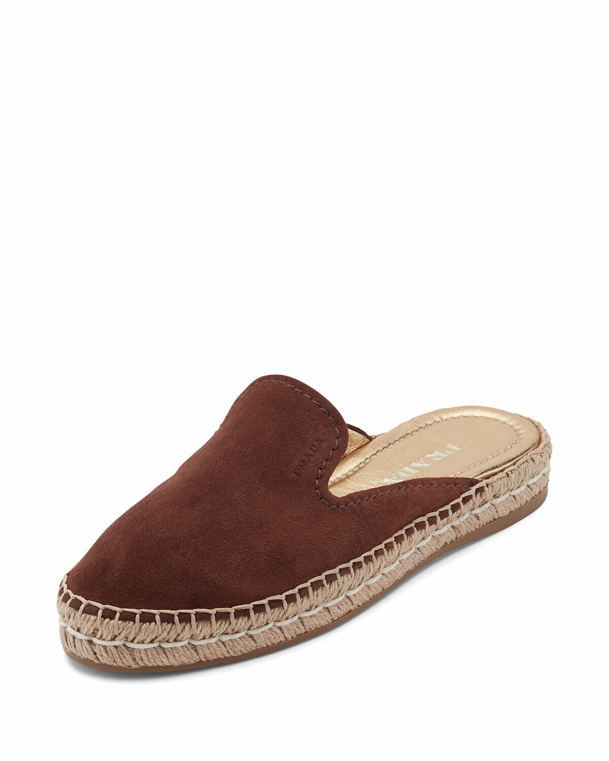 NEW  500 Prada Suede Brown Mules Sz 39.5  9.5