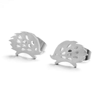 Hypoallergenic 316L Surgical Steel GIFT BOXED Stud Earrings Hedgehog