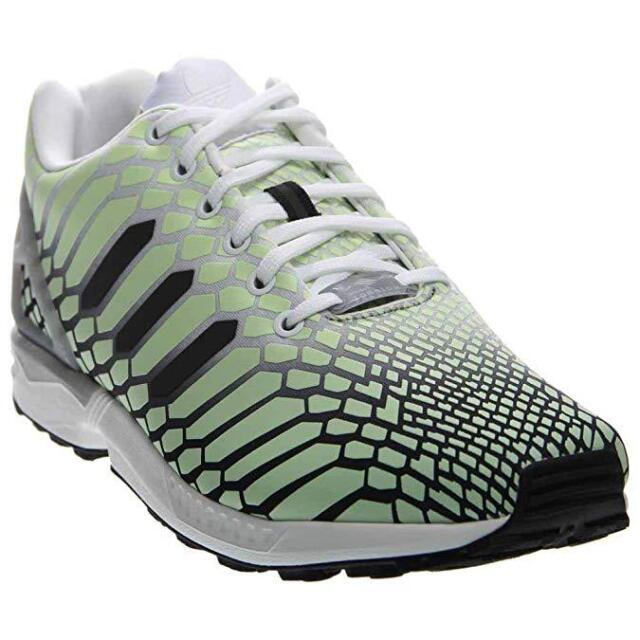 promo code 42fe0 0df8d Adidas Men Originals ZX Flux Xeno Green Glow Dark Reflective Shoe AQ4535  Size 10