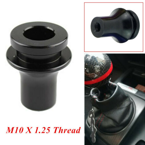M10X1.25 Black Car Auto Shift Knob Boot Retainer Adapter For Manual Gear Shifter