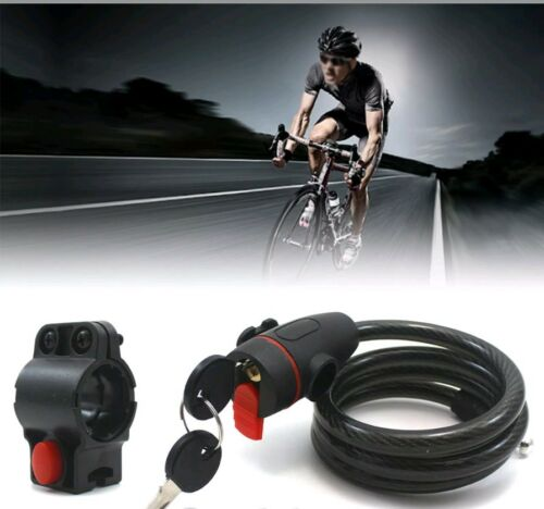 BICYCLE BIKE HEAVY DUTY COIL LOCK SPIRAL STEEL CABLE