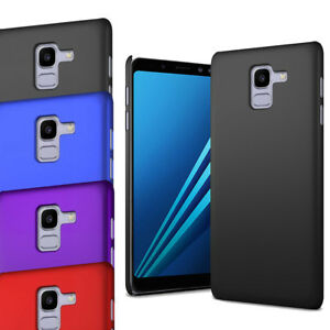 Pour-Samsung-Galaxy-A8-2018-A530F-Slim-Mince-Hybrid-Hard-Case-Cover-amp-Screen