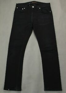 Nudie-Jeans-Co-Herren-Tube-Tom-black-schwarz-Denim-Jeans-Groesse-Taille-30-034-Bein-28-034