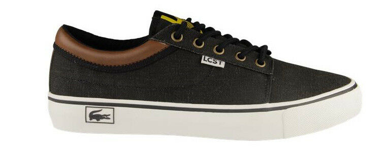 LACOSTE MENS TRAINERS, SHOES, PLIMSOLL, PUMPS VAULTSTAR CNS SCM CANVAS BLACK