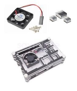 Acrylic-Case-Shell-Enclosure-Box-Cooling-Fan-Heatsink-For-Raspberry-Pi-3-B