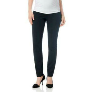 Maternity-in-Contrasto-Slim-Motherhood-Gamba-Pantaloni-Leggings-Nero-Taglie-8-22