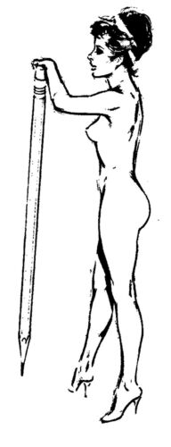 """Naked Lady FLONZ Vintage Rubber 2.5/""""x3.5/"""" Clear Stamp"""