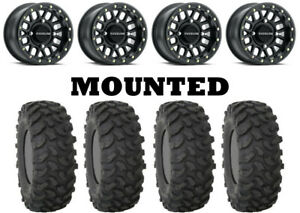 Kit-4-System-3-XTR370-Tires-28x10-14-on-Raceline-Podium-Beadlock-Matte-Black-CAN