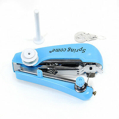 Portable Cordless Hand Held Sewing Machine Stitch Home Mini Clothes & Travel Use