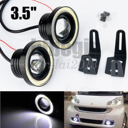 COB 2.5//3//3.5 inch LED Fog Light Projector Angel Eye Halo Ring DRL Driving Bulbs
