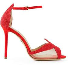 Charlotte Olympia Beaded Suede Sandrine Sandals - Size 6.5 / 37