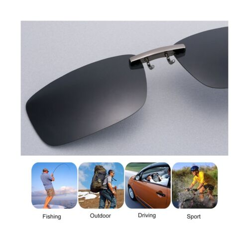 Besgoods Polarized Clip-on Sunglasses Lenses Glasses Unbreakable Driving Fish...