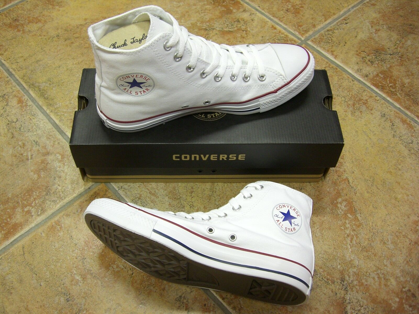 Converse Größe Chucks All Star HI Größe Converse 43 Optic White M7650C Neu Sneaker 8ef97c