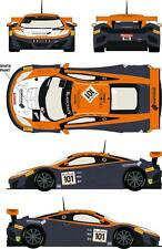 1/24 Decal Mclaren MP4/12c GT3 #101 24h of Spa 2014 for Fujimi
