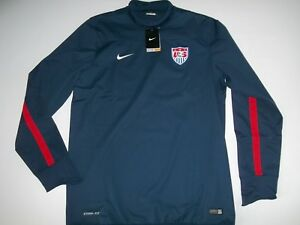 2dd21ab3f469 NIKE Storm-Fit Soccer USA National Team PULLOVER Training JACKET ...