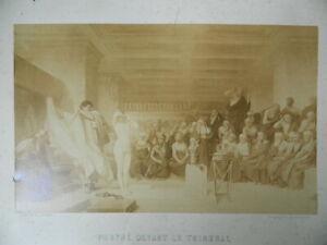 Foto Albumina Frine Davanti L'Areopago Jean Leon Gerome Goupil 1861