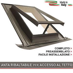 Dettagli su Lucernario / Finestra per tetto - BASIC VASISTAS 48x72  (Apertura tipo Velux)