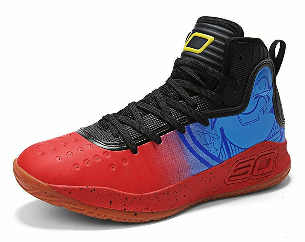 COSDN Womens Mens Fashion High-Top Basketball shoes Lightweight Breathable